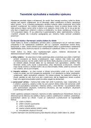1. Teoretické východiská a metodika výskumu