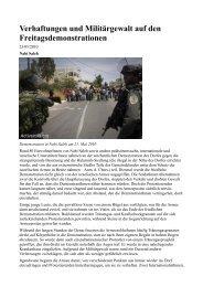 Verhaftungen und Militärgewalt auf den Freitagsdemonstrationen