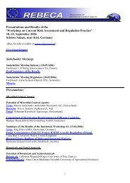 Presentations & Results - REBECA