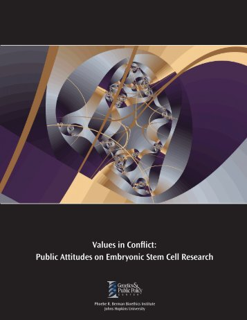 Public Attitudes on Embryonic Stem Cell Research - Genetics ...