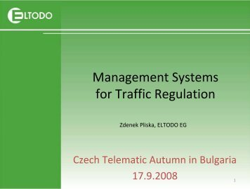 Management Systems for Traffic Regulation