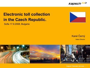 Electronic toll collection in the Czech Republic.