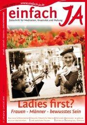 Ladies first? - einfach JA