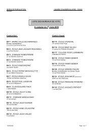A compter du 1er mars 2010 LISTE DES BUREAUX DE VOTE ...