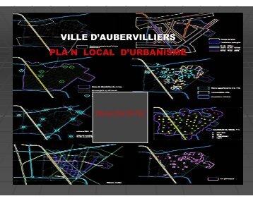 PLU - diagnostic synthèse - Ville d'Aubervilliers