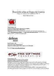 Descrições sobre os Grupos - Wiki-SL - Software Livre Brasil