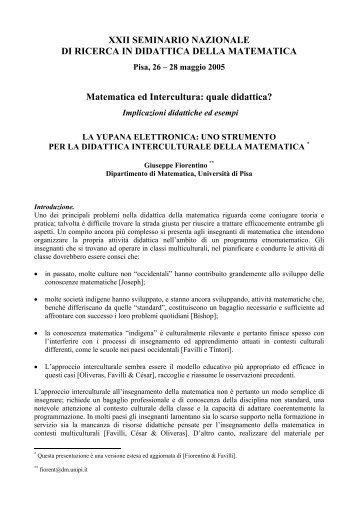 La yupana elettronica - Seminario Nazionale di Ricerca in Didattica ...