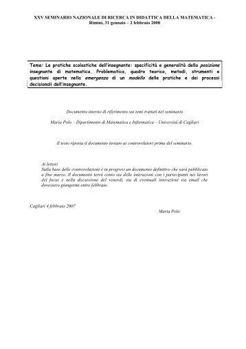 Materiale di riferimento - Seminario Nazionale di Ricerca in ...