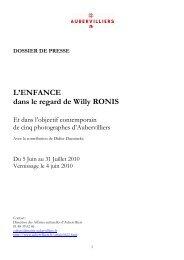 dossier de presse WR - Ville d'Aubervilliers