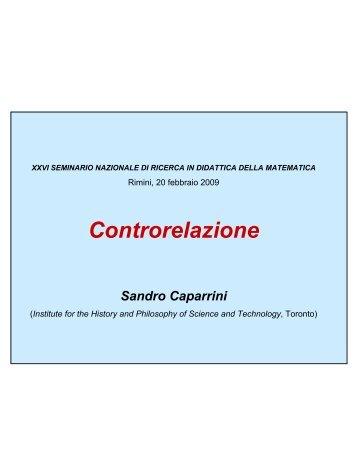Controrelazione Caparrini - Seminario Nazionale di Ricerca in ...