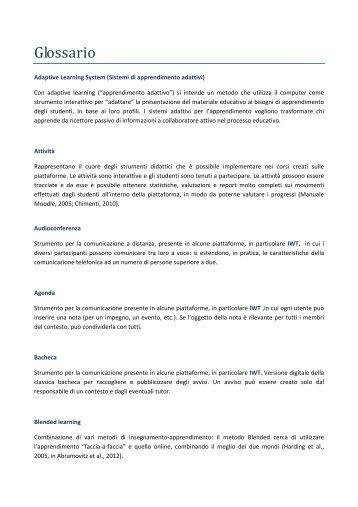 Glossario - Seminario Nazionale di Ricerca in Didattica della ...