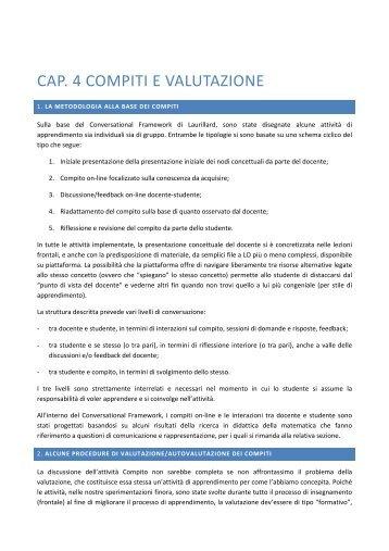cap. 4 compiti e valutazione - Seminario Nazionale di Ricerca in ...