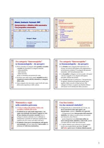 Bagni parte III - Seminario Nazionale di Ricerca in Didattica della ...