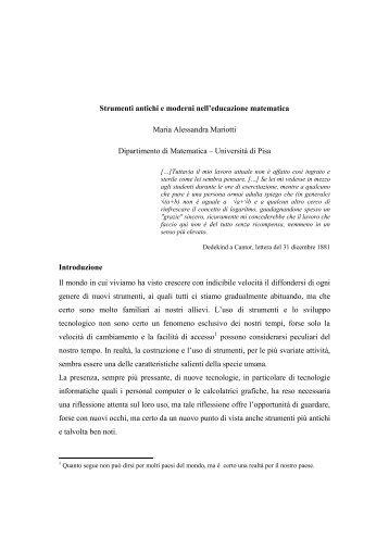 Mariotti M.A. - Seminario Nazionale di Ricerca in Didattica della ...