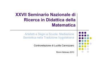 Cannizzaro - Seminario Nazionale di Ricerca in Didattica della ...