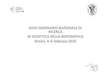 Bartolini Mariotti 1 - Seminario Nazionale di Ricerca in Didattica ...