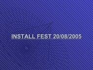INSTALL FEST 20/08/2005