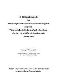 18. Tätigkeitsbericht des Hamburgischen Datenschutzbeauftragten ...