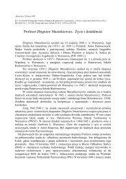 Zbigniew Mazurkiewicz - Wydział Inżynierii Lądowej - Politechnika ...