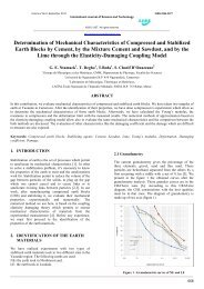 Determination of Mechanical Characteristics of Compressed and ...