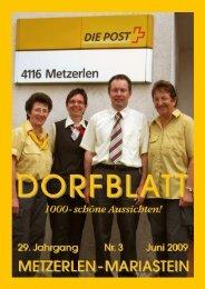 Juni 2009 - Metzerlen-Mariastein