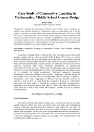 Case Study of Cooperative Learning in Mathematics - Education for All