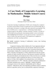 A Case Study of Cooperative Learning in Mathematics: Middle ...