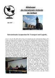 Mitteilungen des Internationalen Verbandes der Tarifeure