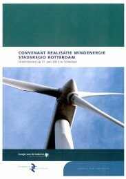 convenant realisatie windenergie stadsregio rotterdam