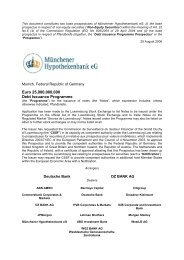 Euro 25,000,000,000 Debt Issuance Programme - Münchener ...