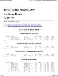 Horsetooth Half Marathon 2009 - Active.com Race Results