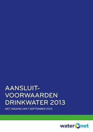 Aansluitvoorwaarden drinkwater (pdf) - Waternet