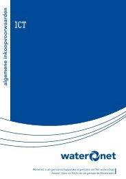 Algemene inkoopvoorwaarden ICT - Waternet