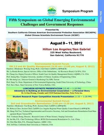 Final Symposium Program (2) - SCCAEPA SPONSORS