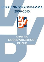 VERKIEZINGSPROGRAMMA 2006-2010 - VVD Noordwijkerhout