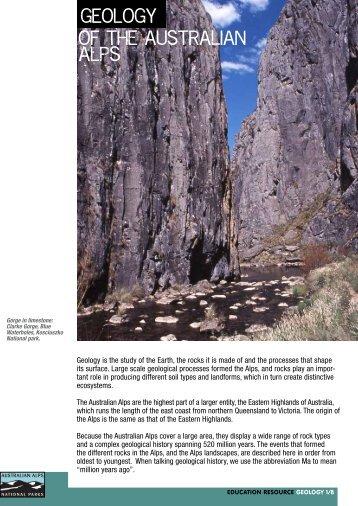 Geology of the Australian Alps - Australian Alps National Parks