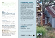 Huts code for visitors - Australian Alps National Parks