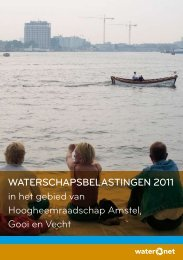 WATERSCHAPSBELASTINGEN 2011 in het gebied van ... - Waternet