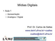 Mídias Digitais - DEINF/UFMA