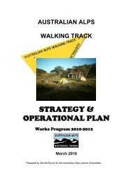 AUSTRALIAN ALPS WALKING TRACK Strategy and Operational ...
