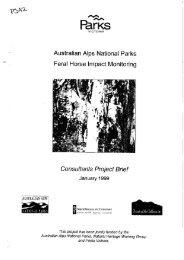 Australian Alps National Parks - Feral Horse Impact Monitoring
