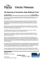Re-Opening of Australian Alps Walking Track - 7 February 2008