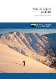 Download the report (PDF - 1.43 MB) - Australian Alps National Parks