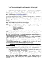 Ghid de completare a raportului financiar in baza de date ... - LLP
