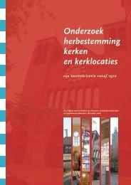 Onderzoek herbestemming kerken en kerklocaties - Bisdom ...