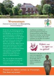 Vronesteynfolder - Bisdom Rotterdam