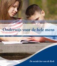 Onderwijs voor de hele mens - Bisdom Rotterdam
