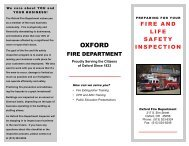 our fire inspection checklist - City of Oxford