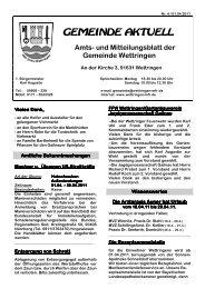 und Mitteilungsblatt der Gemeinde Wettringen