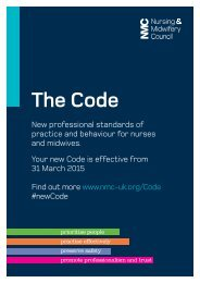 NMC-Code poster